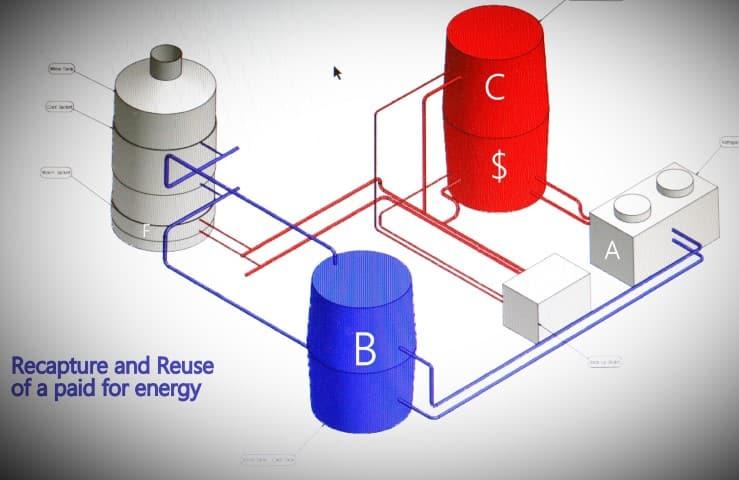 energy pump - hybrid heat pump
